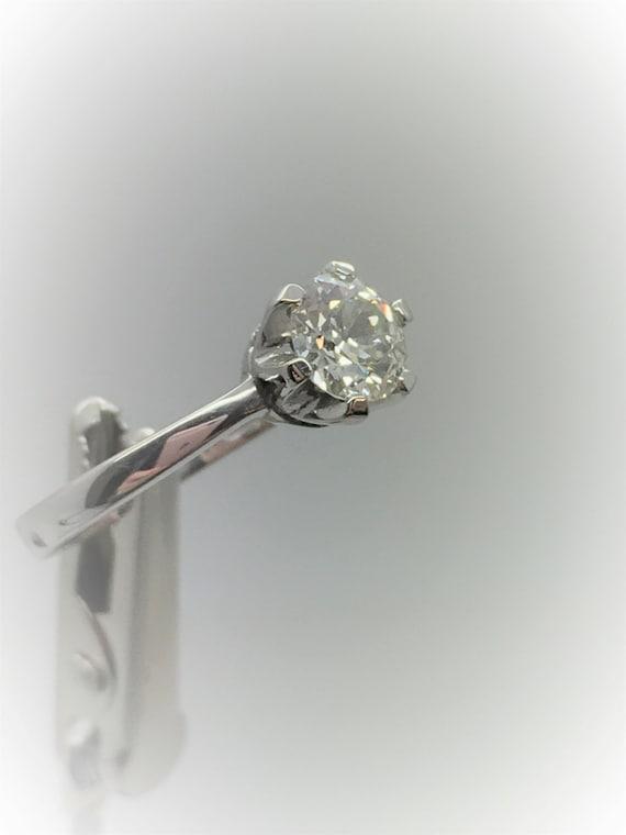 Diamond Ring - Handmade 18ct White Gold Douglas Hughes Design