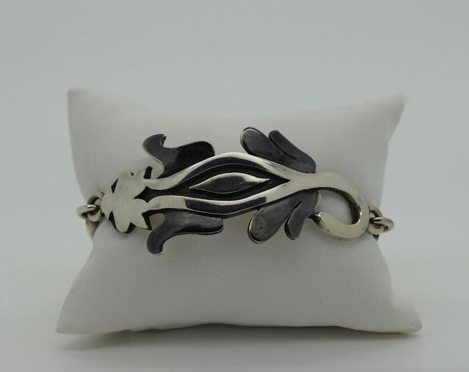 Cat Bangle - Oxidised Silver - Handmade Douglas Hughes Design