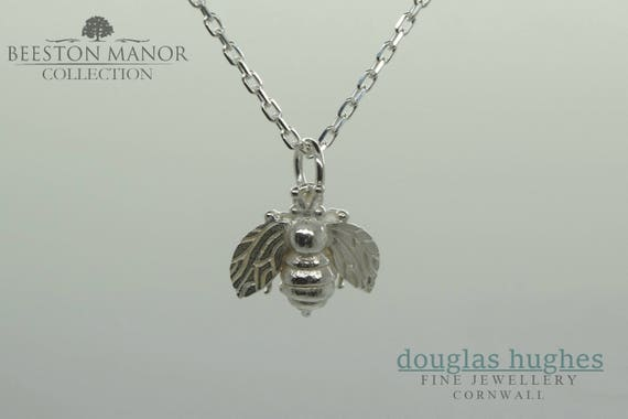 Honey Bee Pendant/Charm – Solid Silver - Handmade by Douglas Hughes