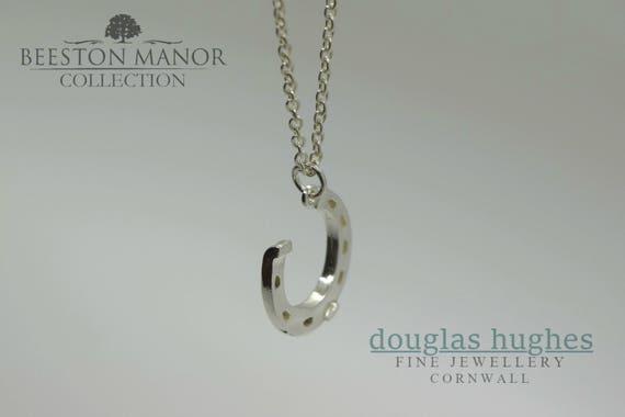 Horseshoe Pendant/Charm – Solid Silver - Handmade by Douglas Hughes