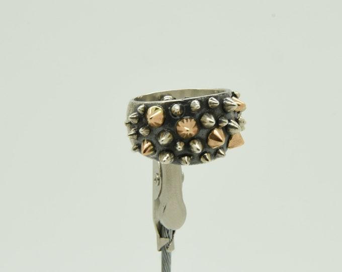 Handmade Silver and Rose Spike Ring, Douglas Hughes Design