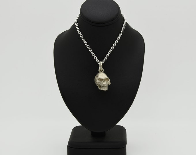 Handmade Silver Skull Pendant, Douglas Hughes Design