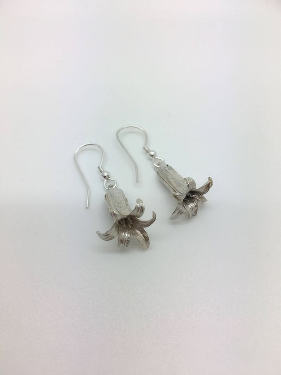 Bluebell Earrings – Solid Silver - Handmade by Douglas Hughes