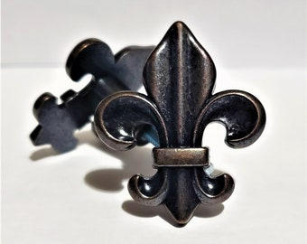 Antique Bronze Metal Fleur De Lis Knob House Decor Home Decor Drawer Pull Drawer Knob Cabinet Knob Cabinet Pull