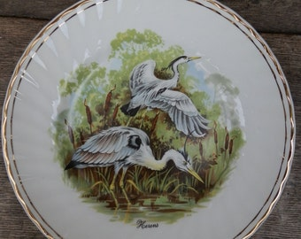 Vintage 1970's Collectable Plate: Herons
