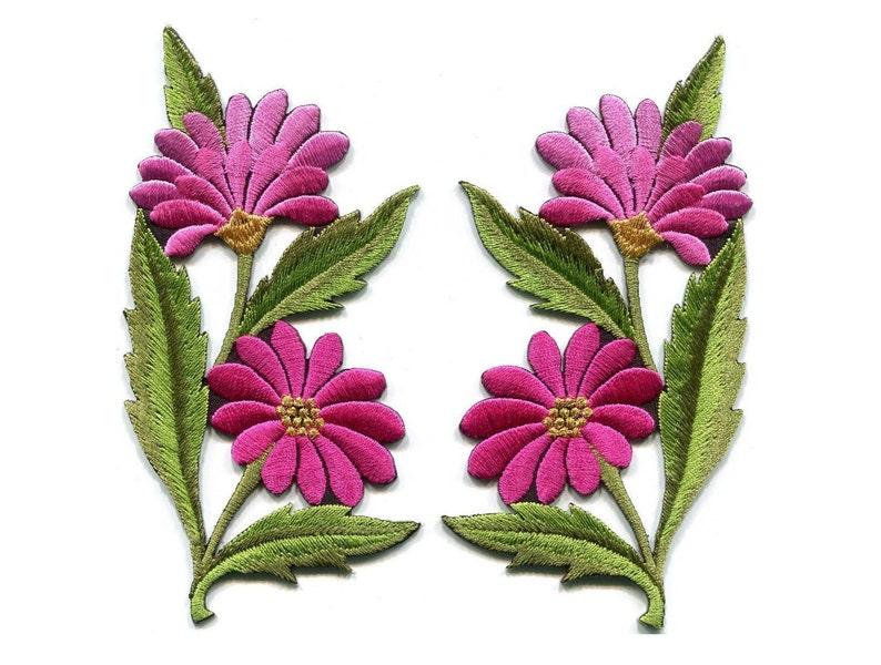 Decorazioni e finiture purple sparkle fiore con foglie ferro su