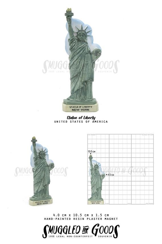 New York Freiheitsstatue mit Flagge Statue of Liberty,18 cm,Souvenir USA Amerika