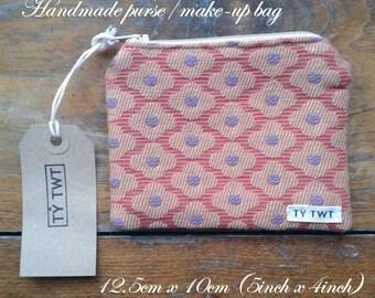 Handmade purse/ make-up bag, Floral