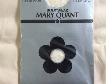 Vintage body stocking, Mary Quant 80s vintage Deadstock, S/M, cream stretch lace.
