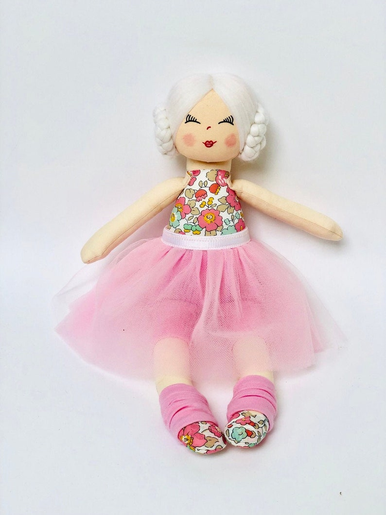 Doll Rag doll ballerina doll cloth doll dolls handmade image 0