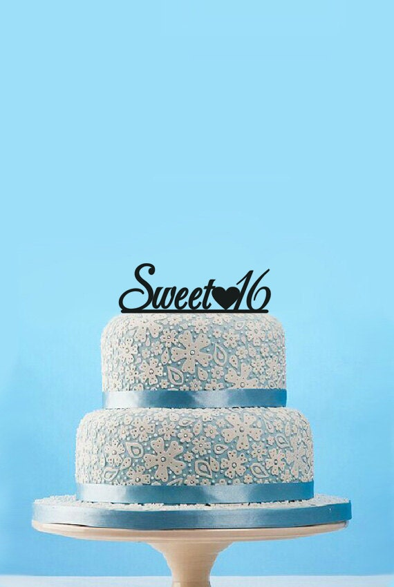 Personalized Cake TopperSweet 16 TopperCustomized