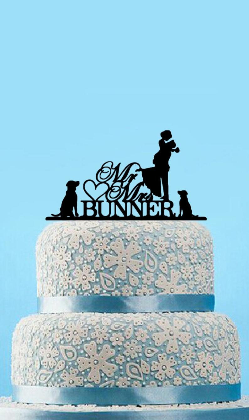 Customized Unique Acrylic Wedding Cake Topper With image 0
