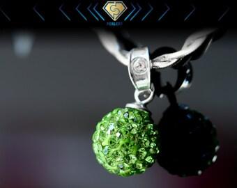 Swarovski Crystal Ball Pendant, Green Pendant, Swarovski Pendant, Cyber Monday Sale.