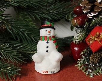 vintage cvs snowman ornament 1998