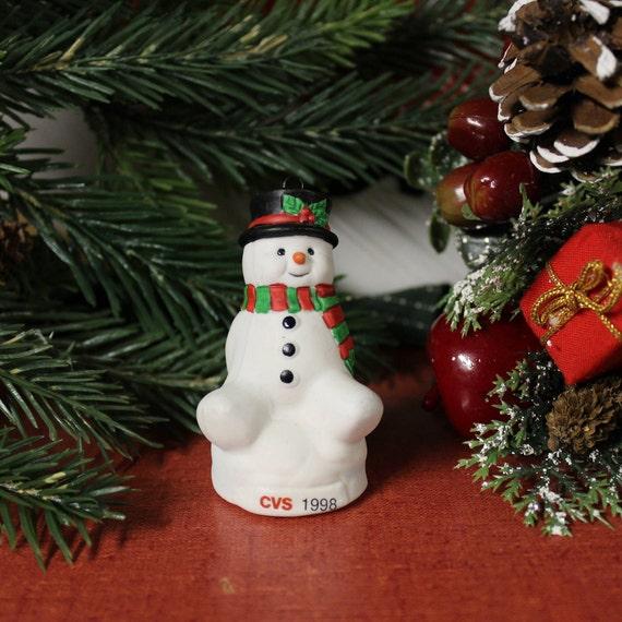 image 0 - Vintage CVS Snowman Ornament 1998 Etsy