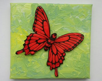 Butterfly Decor, Butterfly wall art, Swallowtail butterfly, Butterfly sculpture, 3D butterflies, butterfly gift, 3D wall art, butterfly art