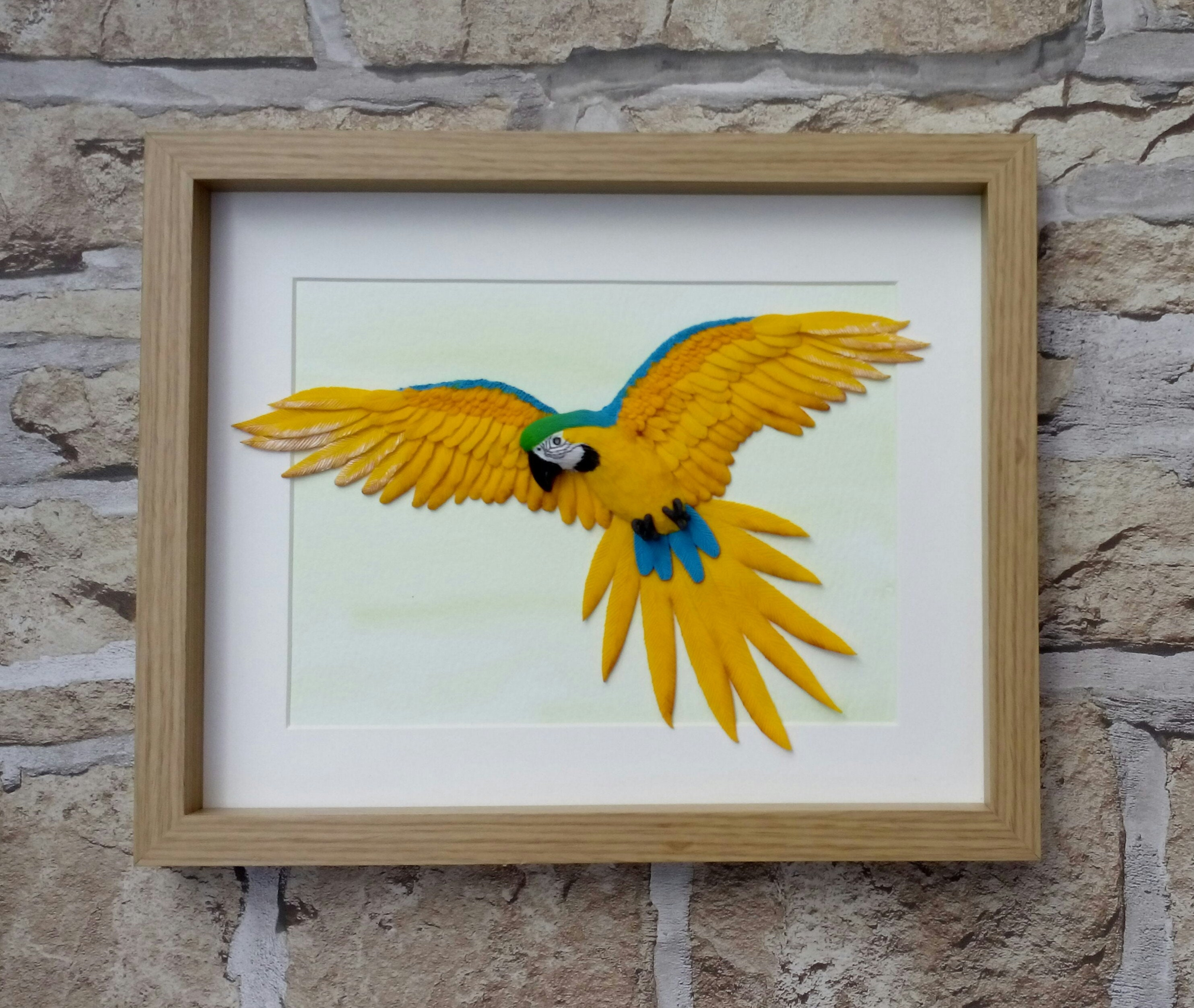 Blue and Gold Macaw Wall Art | Etsy