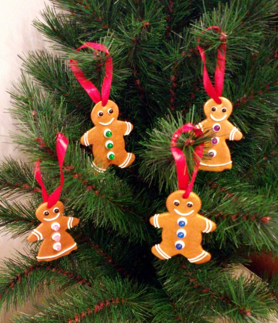 Gingerbread man Christmas tree decorations Gingerbread | Etsy