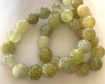 Natural Stone Xinjiang Jade String Jewellery Necklace Pendent Gemstone DIY Elegant Charming Japser Necklaces