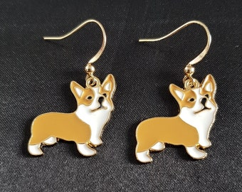 FREE GIFT BOX Animal Dog GOLD FILLED  Earrings Chihuahua  Jewellery Bridesmaid 2