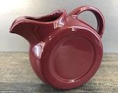 Vintage Chefsware USA Burgundy Water Pitcher Jug Pottery similar Homer Lauglin