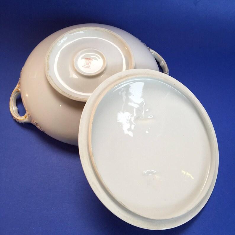 Limoges Elite Works 8 China Covered Casserole Serving Bowl Vintage France