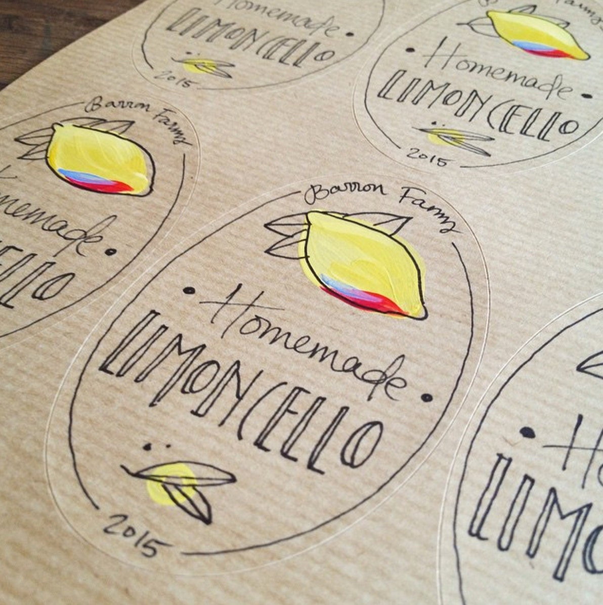 10 Limoncello labels Personalised Oval labels customised