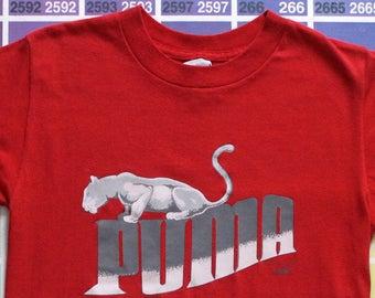 c06f3760 Vintage Puma shirt | 80s Puma shirt | Puma vintage tee shirts | Puma t shirt  | Puma clothes for women s | Puma men xs | eighties t shirts