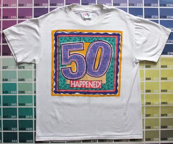 13cb49491410 Vintage 50th birthday shirt 50th birthday gift for women XL