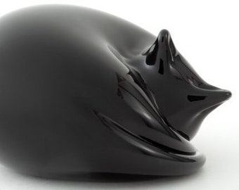 Black Cat, Glass Sculpture,