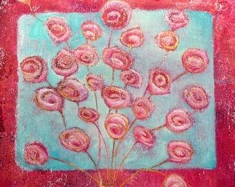 Flowers, greeting card