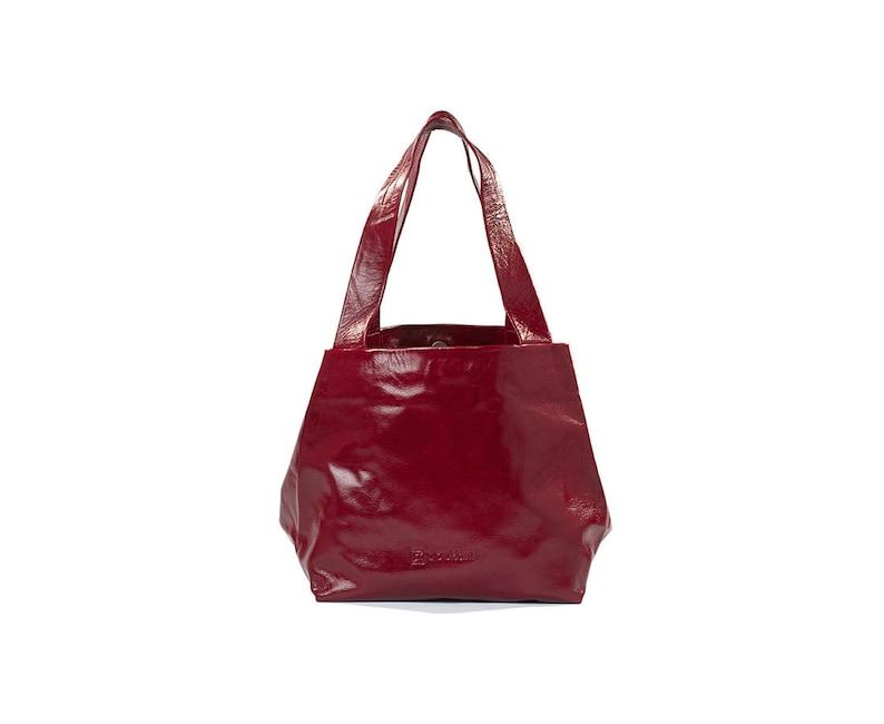 162bfc6b1e Bordeaux Leather Shoulder Bag Medium Size Handbags Womens