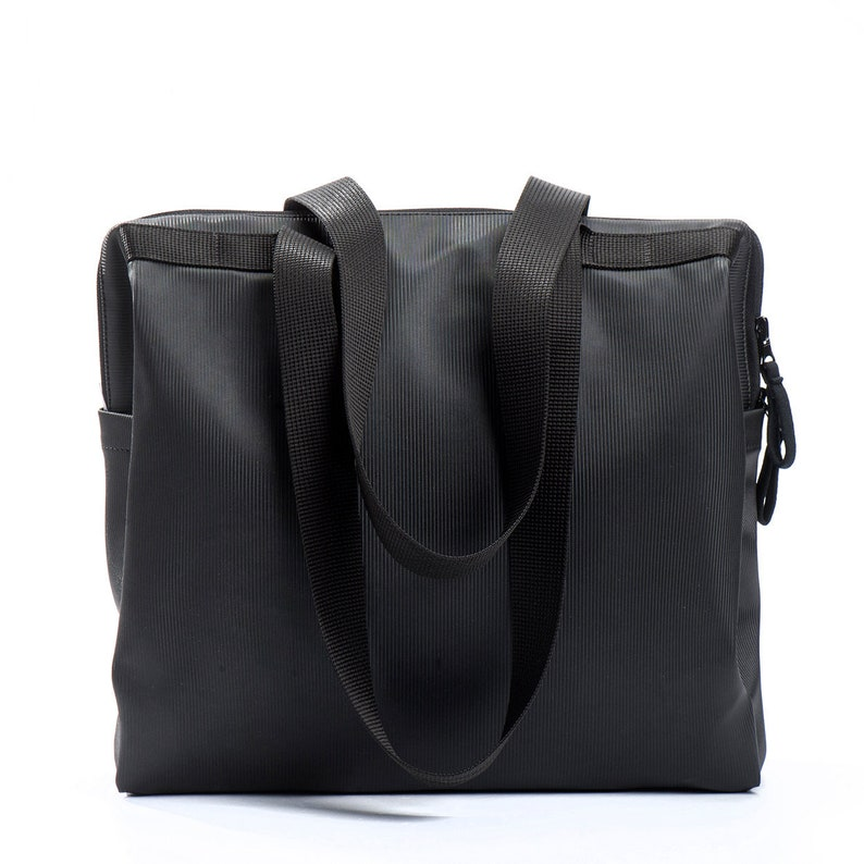 3721e0a06e Black Shoulder Laptop Bags Vegan Computer Handbags Womens