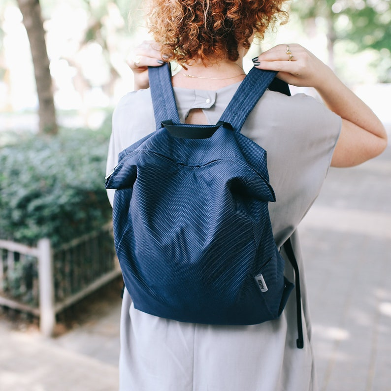 Stylish Denim Blue Canvas Backpack For Women Sporty Casual  f2d4950ee7152