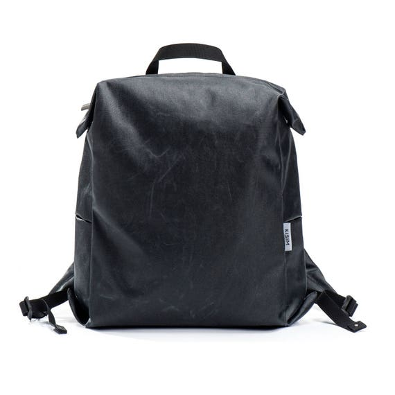 Women s Canvas Backpack Black Vegan Backpack Purse  7b0be5cfc