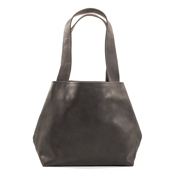 dbd9f7e7a12b Classic Black Leather Shoulder Purse Women Handbag Tote