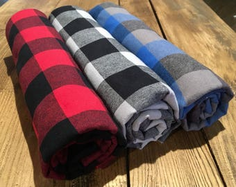 Incredibly soft buffalo plaid blanket (3 colour options)