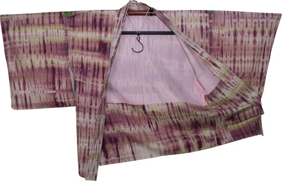 Pink, Green, and White Tie Dye Haori