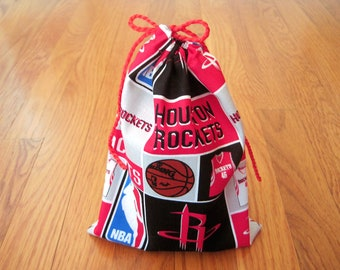 a62dc28a7f8d Sports Drawstring Bags 6x8 Handmade from Houston Rockets Cardinal RED  Silver Black White pro Basketball NBA Team Fabric Gift Pouch Birthday