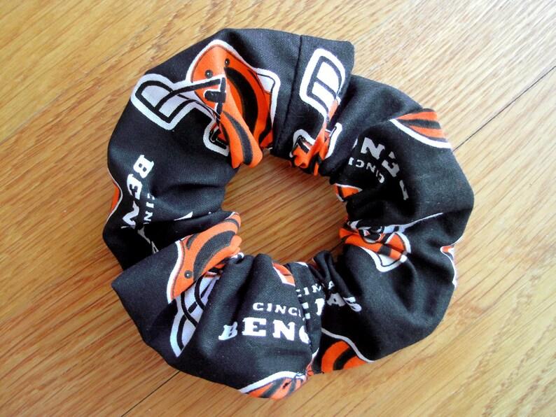 8f45f22c Sports Scrunchies Handmade from Cincinnati Bengals NFL Cotton pro Football  team Ponytail holder Women Men Birthday athlete fan gift for hair