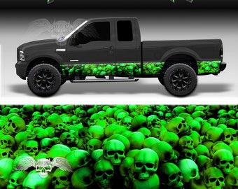 d8bfd9c2 Rocker Panel Wrap Green Skull Crusher Rocker Panel Decal Graphic Wrap Kit  Truck SUV
