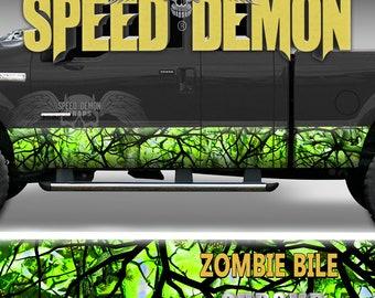 c53dc6e5 Rocker Panel Wrap Zombie Bile Toxic Hazardous Nuclear Waste Camouflage  Graphics Camo Vinyl Decal Wrap Kit Truck SUV