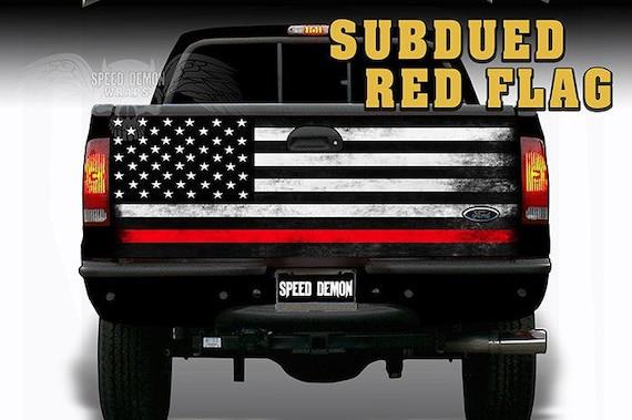 2 Pack Thin RED Line Decal Sticker Vinyl Car Truck Jeep Firefighter TRL  Bumper
