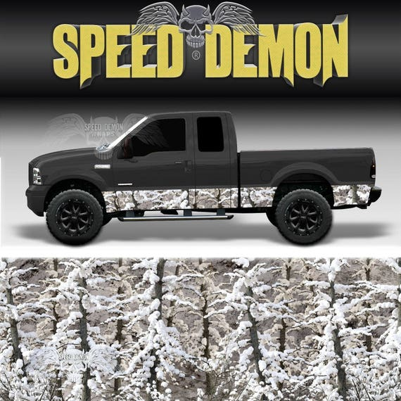Camo Rocker Panel Graphic Snow Buck Decal Wrap Truck Side Camouflage Vinyl