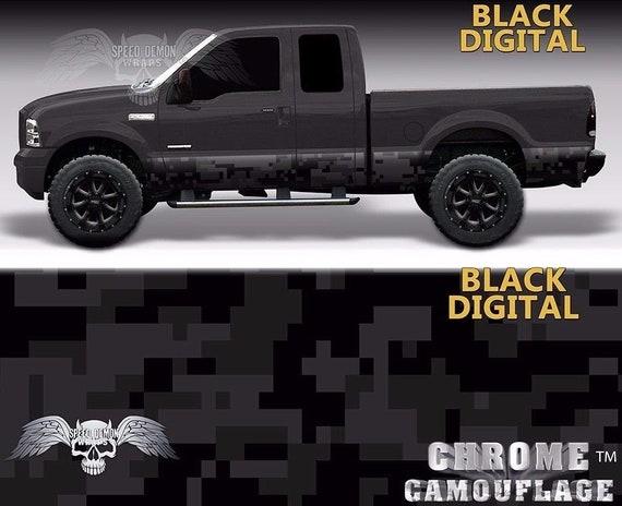 1e9e9165 Black Digital Camo Rocker Panel Wrap Night Camouflage Graphics | Etsy
