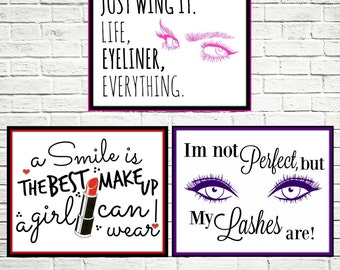 Three Make-up Art, Beauty Art, Liner,Lips,Lashes 8x10 Download