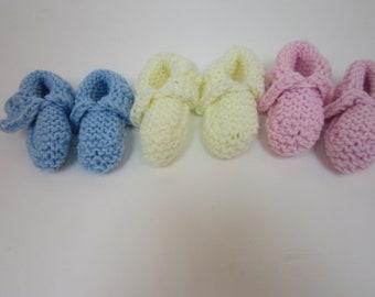 Reknit baby slippers