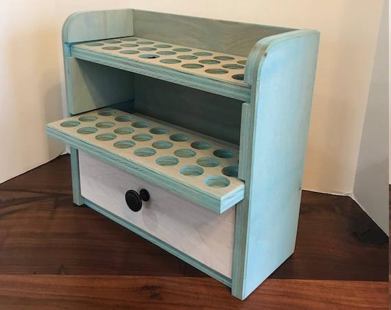 Essental oil storage// Essential oil holder// Essential oil// 48 count shelf with drawer