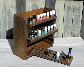 Essential oil storage shelf (holds 72 bottles)