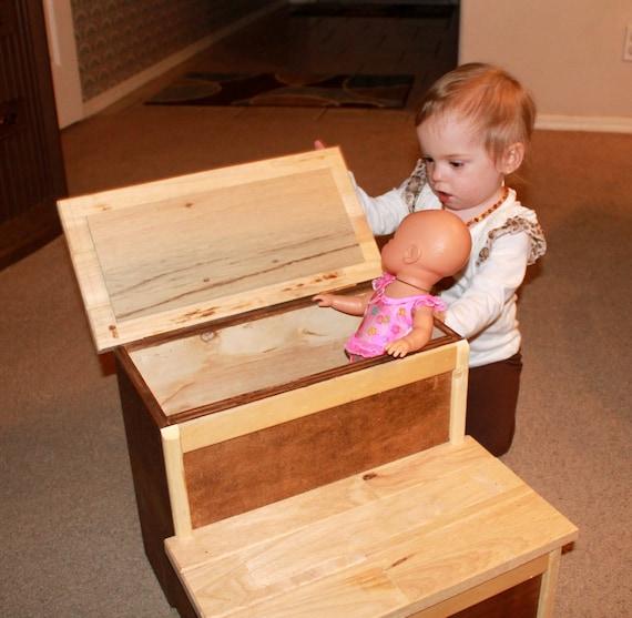 Storage step stool | Farmhouse Step stool | Step stool | youth stool | personalized stool |kids step stool | kitchen stool | 8/19